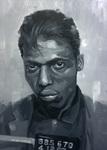 Mugshot exhibition portrait oil painting Oliver Winconek